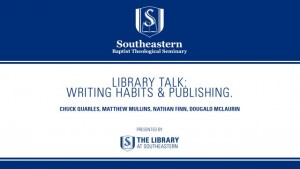 Library Talk: Writing Habits & Publishing