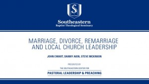 Marriage Divorce, Remarriage and Local Church Leadership