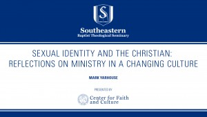 Sexual Identity and the Christian: Reflections on Ministry in a Changing Culture