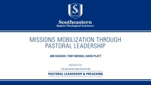 Missions Mobilization through Pastoral Leadership