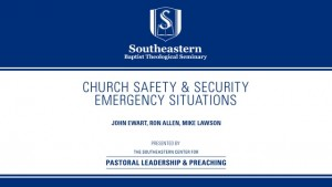 Church Safety & Security: Emergency Situations
