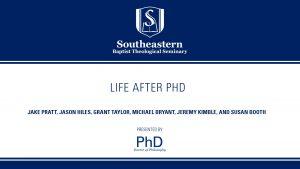 Life After Ph.D.