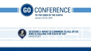David Platt – Go Conference 2016 – Session 3