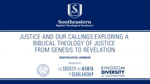 The Evangelical Voices in the Academy Lecture Series – Kristen Deede Johnson